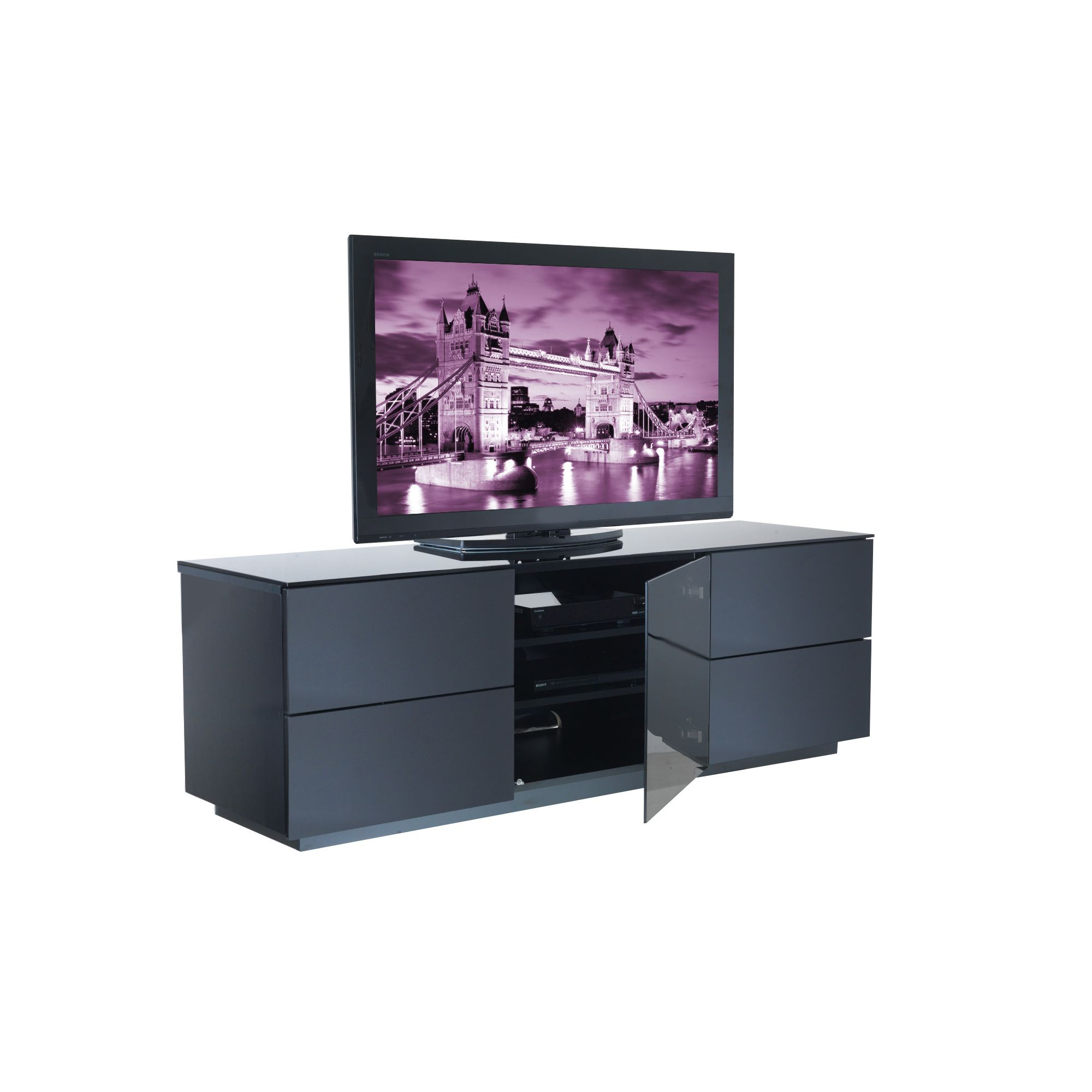 UK-CF City Scape London TV Stand - Black at Tesco Direct