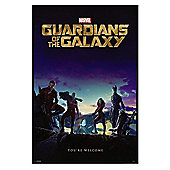 Gloss Black Framed Guardians of the Galaxy You're Welcome Poster