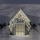 3.5m/11ft 6in Set of 180 Warm & Ice White Multifunction Indoor & Outdoor Icicle LED Lights