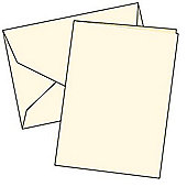 Cards Single Fold A5 Cream 10 Pk