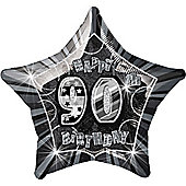 90th 20' Star Foil Balloon (each)