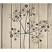 Bead Flower Spray Wall Art - set of 2