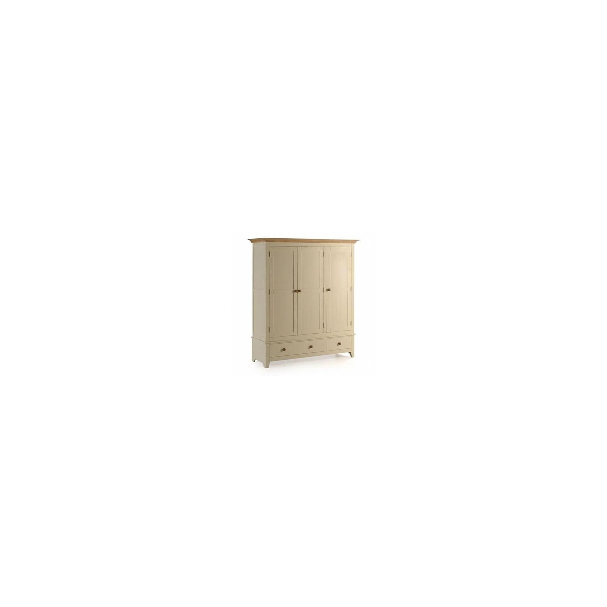 Ametis Camden Painted Pine and Ash Two Drawer Wardrobe in Painted Ivory - 161cm at Tesco Direct