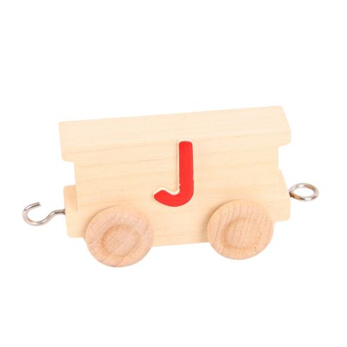 Bigjigs Toys BJ201J Name Train Letter J