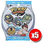 Yo-Kai Watch Medals Blind Bag Series 1 (5x Value Pack)
