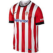 2014-2015 Athletic Bilbao Home Nike Football Shirt - Red