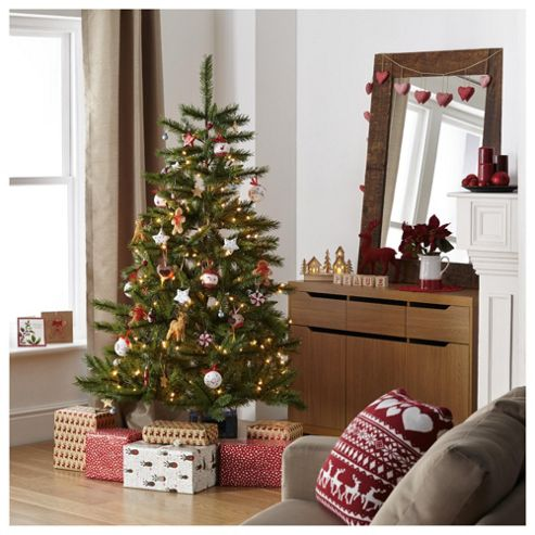 Tesco Norway Spruce Christmas Tree, 6ft
