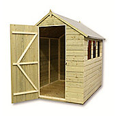 6ft x 5ft Pressure Treated T&G Apex Shed + 3 Windows + Single Door