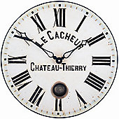 Roger Lascelles Clocks French Clockmaker's Dial Wall Clock with Pendulum