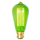 Squirrel Cage Bulb BC Cap 60w GREEN