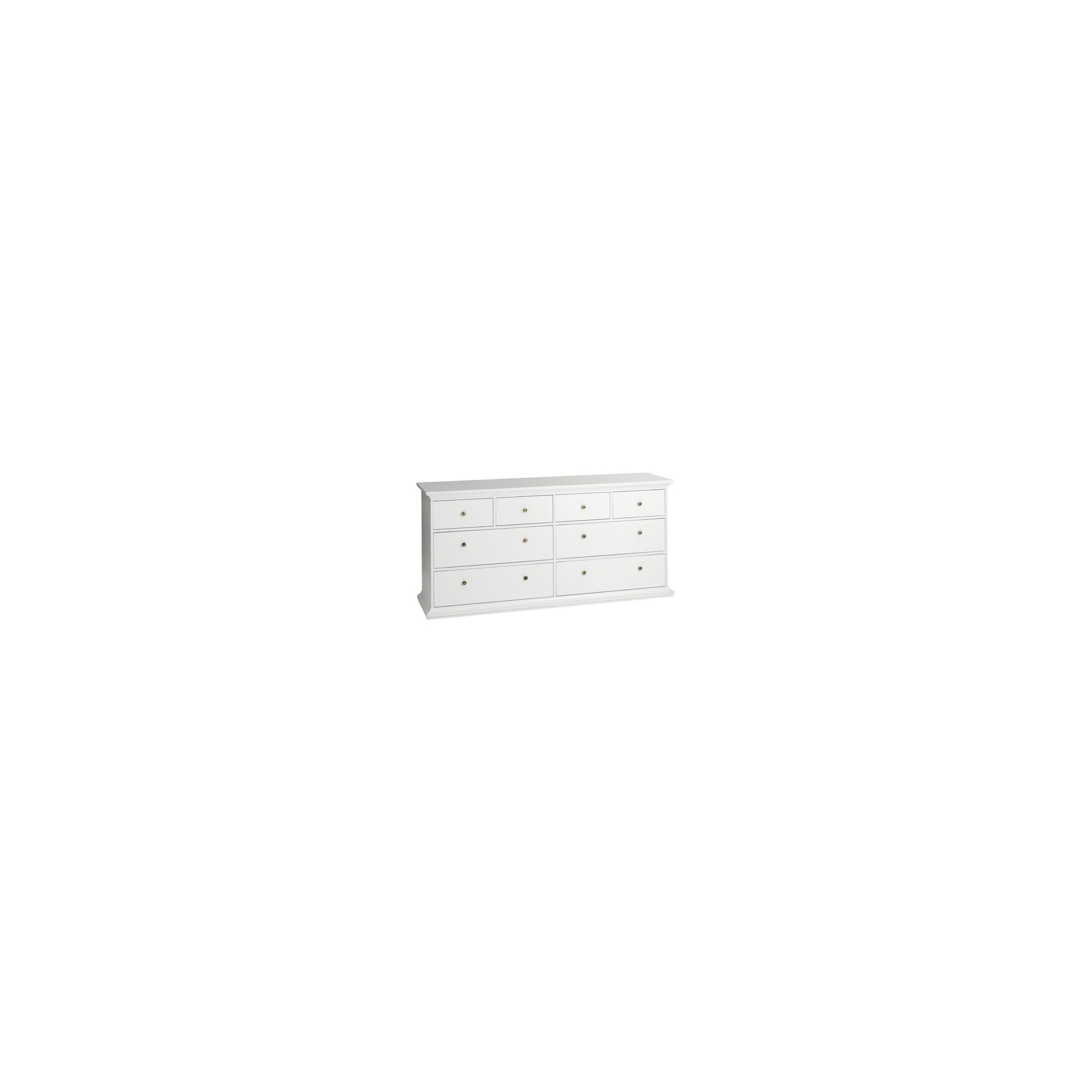 Tvilum Paris Eight Drawer Chest in White at Tesco Direct