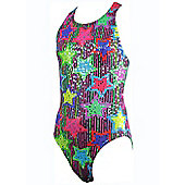 Maru Girls Jazzy Sparkle Rave Back Swimsuit - White