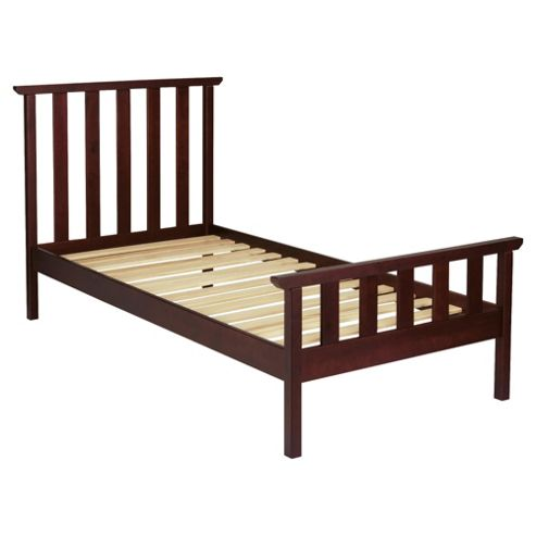 Winton Single bed frame, Chocolate