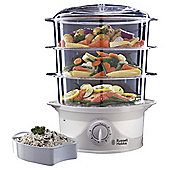 Russell Hobbs 3 Tier, 9L, Food Steamer - White