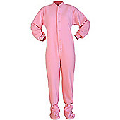 All in One Fleece Snuggle Suits - Pink Fleece (Large)
