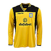 2013-14 Aston Villa Home Goalkeeper Shirt (Yellow) - Kids - Yellow