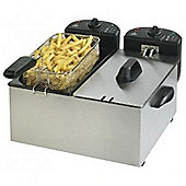 Team F27M Pro CoolZone S/S Double Deep Fat Fryer 2 x 3L Capacity, 2200W