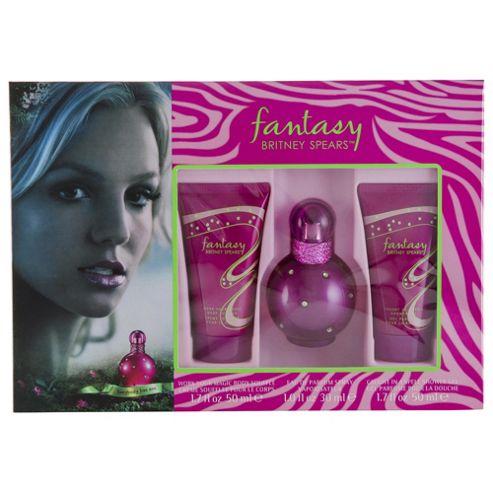Fantasy Eau De Parfum 30Ml & B/Souffle 50Ml & S/Gel 50Ml For Women By Britney Spears