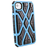 G-FORM iPhone 4 / 4S X-Protect Case, Blue Shell / Black RPT