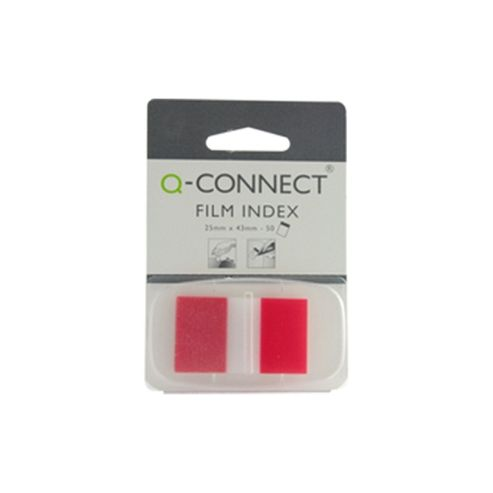 Q-Connect Page Marker 1 inch Pack of 50 Red KF03633