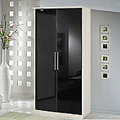 Amos Mann furniture Milano 2 Door Wardrobe - Black and White