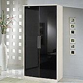 Amos Mann furniture Milano 2 Door Wardrobe - Black and White