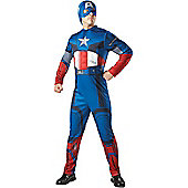 Captain America Deluxe - Adult Costume Size: 38-42