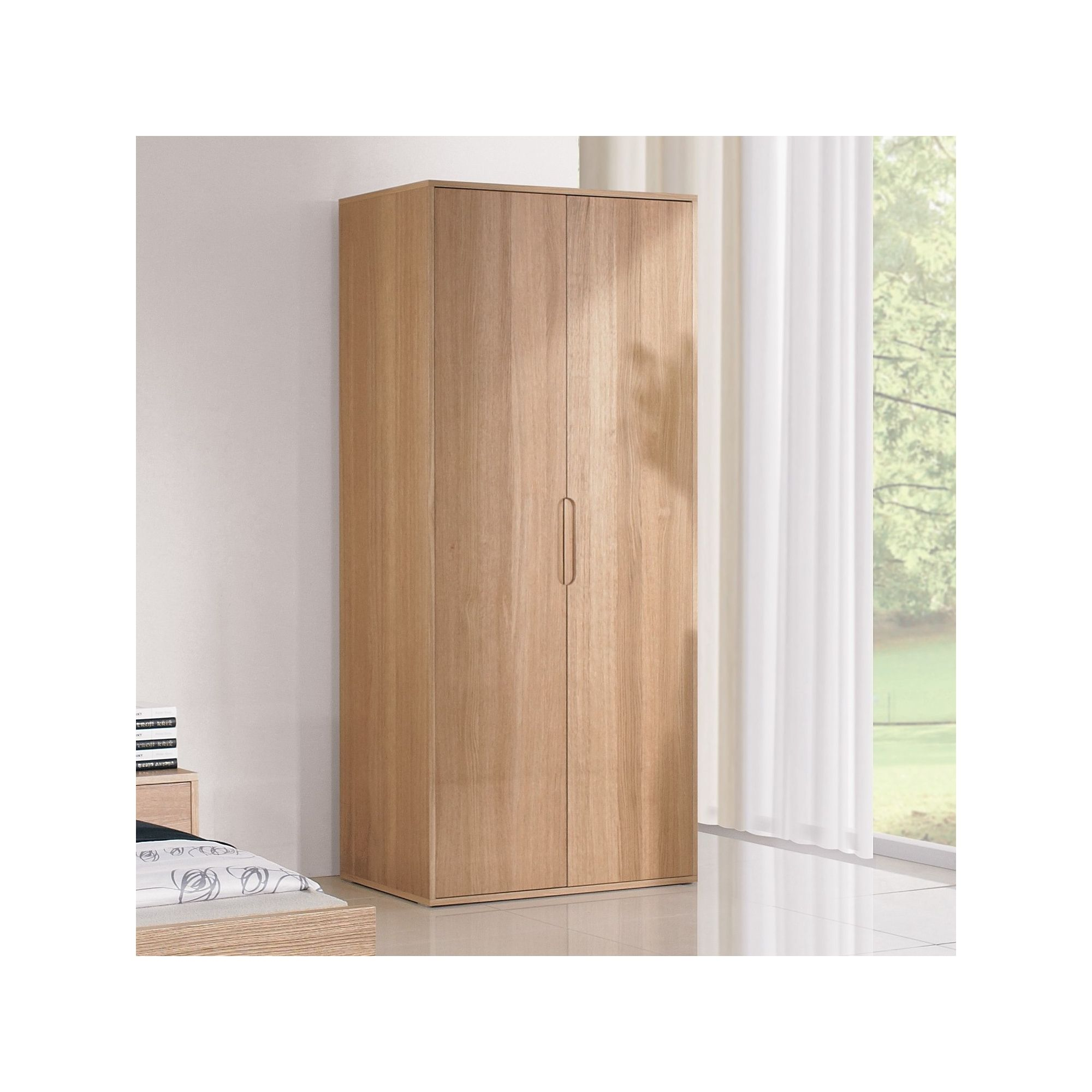 Urbane Designs Bolero 2 Door Wardrobe in Oak at Tesco Direct