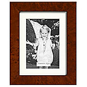 Addison Ross Marquetry Single Aperture Photo Frame with Dark Brown Poplar Fibre Back - 6 in x 8 in