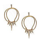 Fiorelli Gold Hoop Spike Earrings