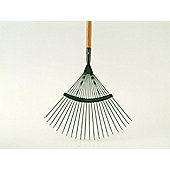 Home Gardener R1673 Lawn Rake Wooden Handle 22 Tooth