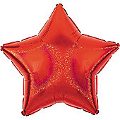 Red Dazzler Star Balloon - 19' Foil (each)