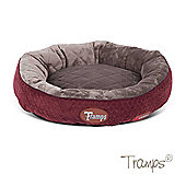 Tramps Thermal Ring Cat Bed Burgundy 50x50cm