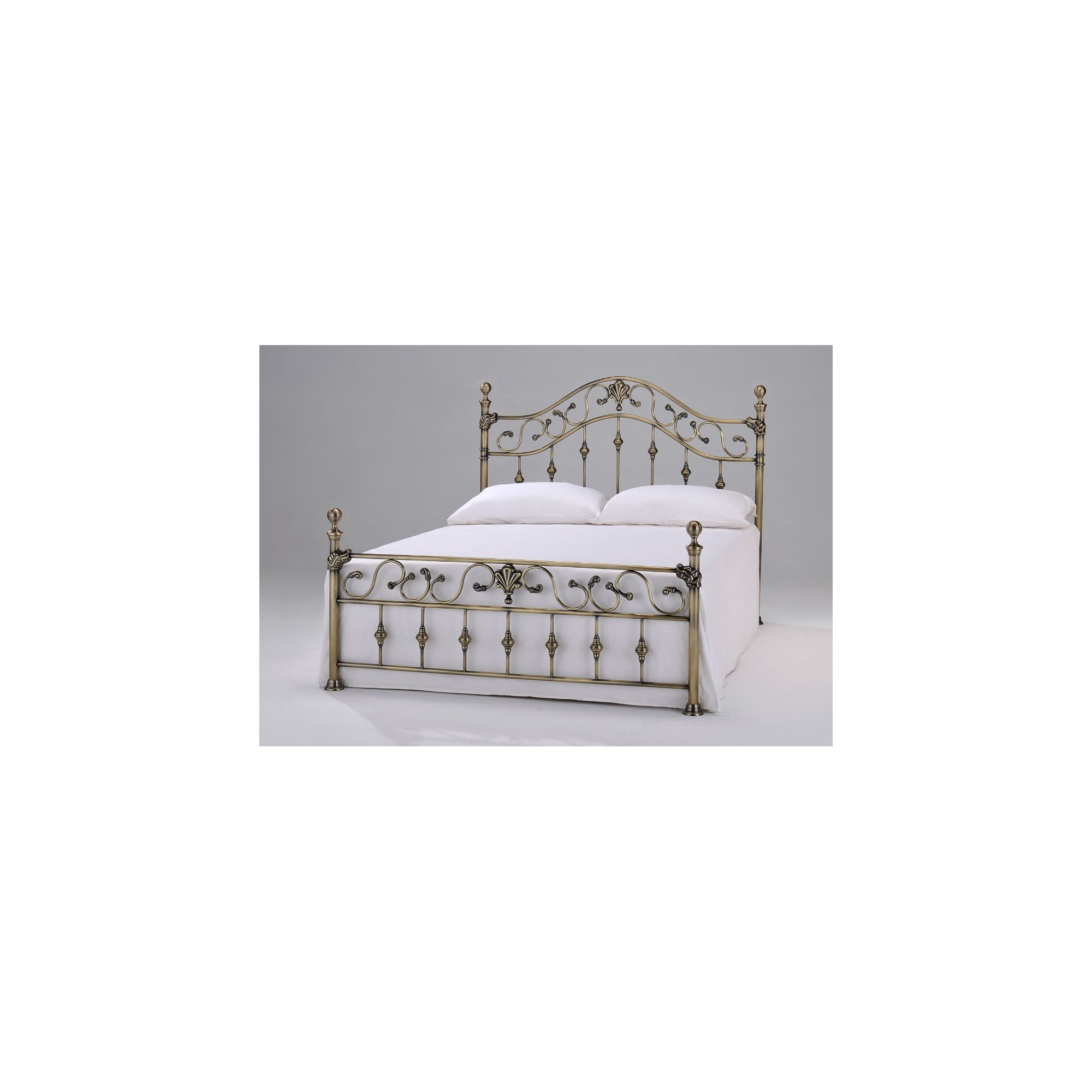 Interiors 2 suit Elizabeth Brass Bed - Double - Brass at Tesco Direct