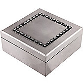 Gem - Crystal Detail Trinket / Storage Box - Dark Silver