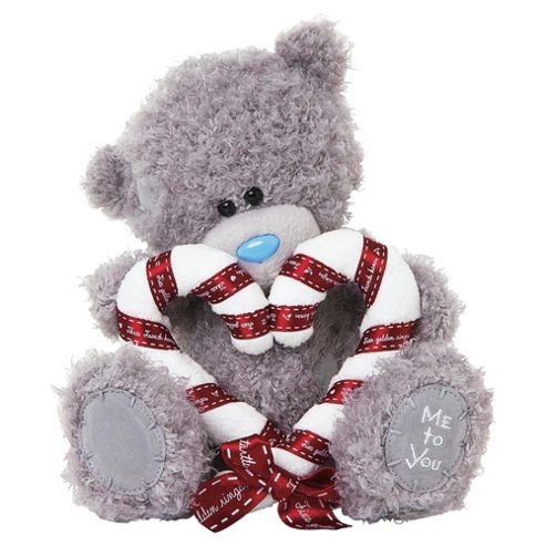 Me To You Tatty Teddy Candy Cane Heart Bear
