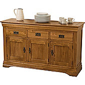 French Chateau Rustic Solid Oak Large Sideabord