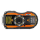 "Pentax Optio WG-3 Digital Camera, Orange, 16MP, 4x Optical Zoom, 3"" LCD Screen, Waterproof"