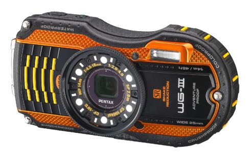 Pentax Optio WG-3 Camera Orange 16MP 4xZoom 3.0LCD Wtprf