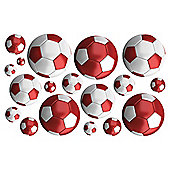 FunToSee Red Football Wall Stickers