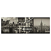 New York Triptych, Set of Three 20x60cm