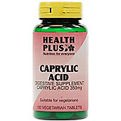 Health Plus Caprylic Acid 100 Veg Tablets