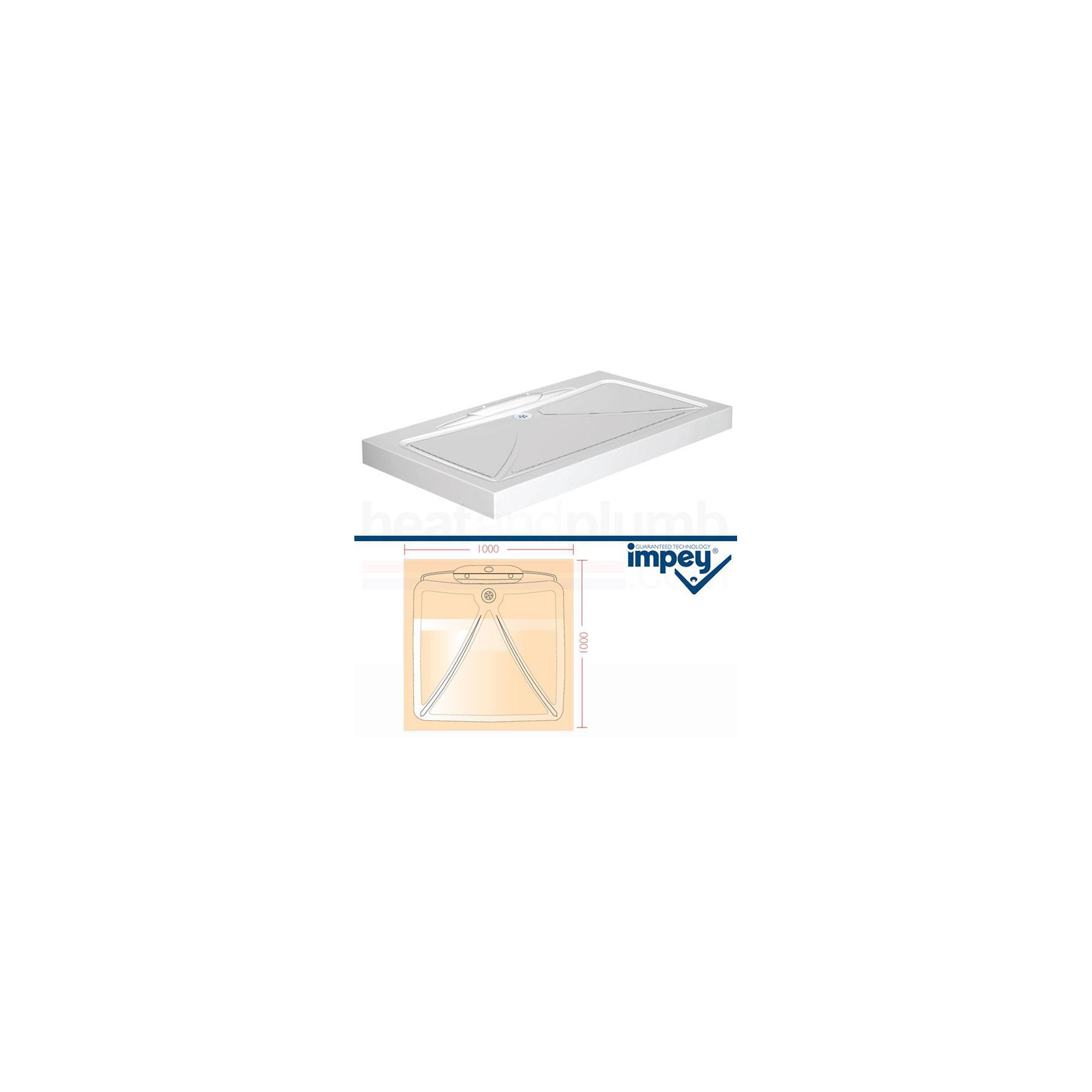 Impey Mendip Shower Tray 1000mm x 1000mm at Tesco Direct