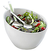 Steel Function Milano Salad Bowl with Stainless Steel Servers