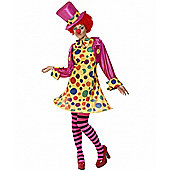 Clown Lady - Adult Costume Size: 8-10