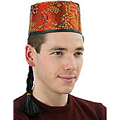 Chinese Mandarin Hat With Pigtail