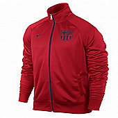 2013-14 Barcelona Nike Core Trainer Jacket (Red) - Red