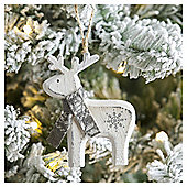 Weiste Wooden Reindeer Christmas Tree Decoration