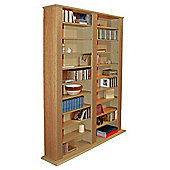 Multimedia CD DVD Blu-ray Storage Shelves - Oak