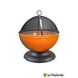 La Hacienda Orange Globe Firepit